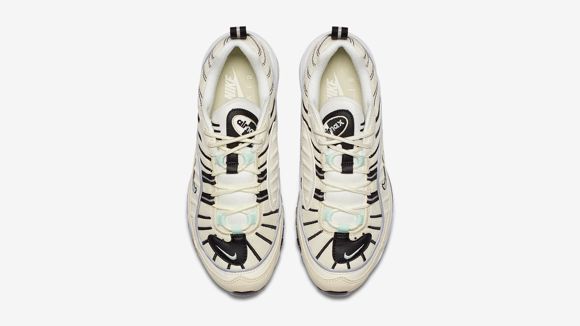 Nike Air Max 98 Sail / Igloo / Fossil / Reflect Silver (AH6799-105)