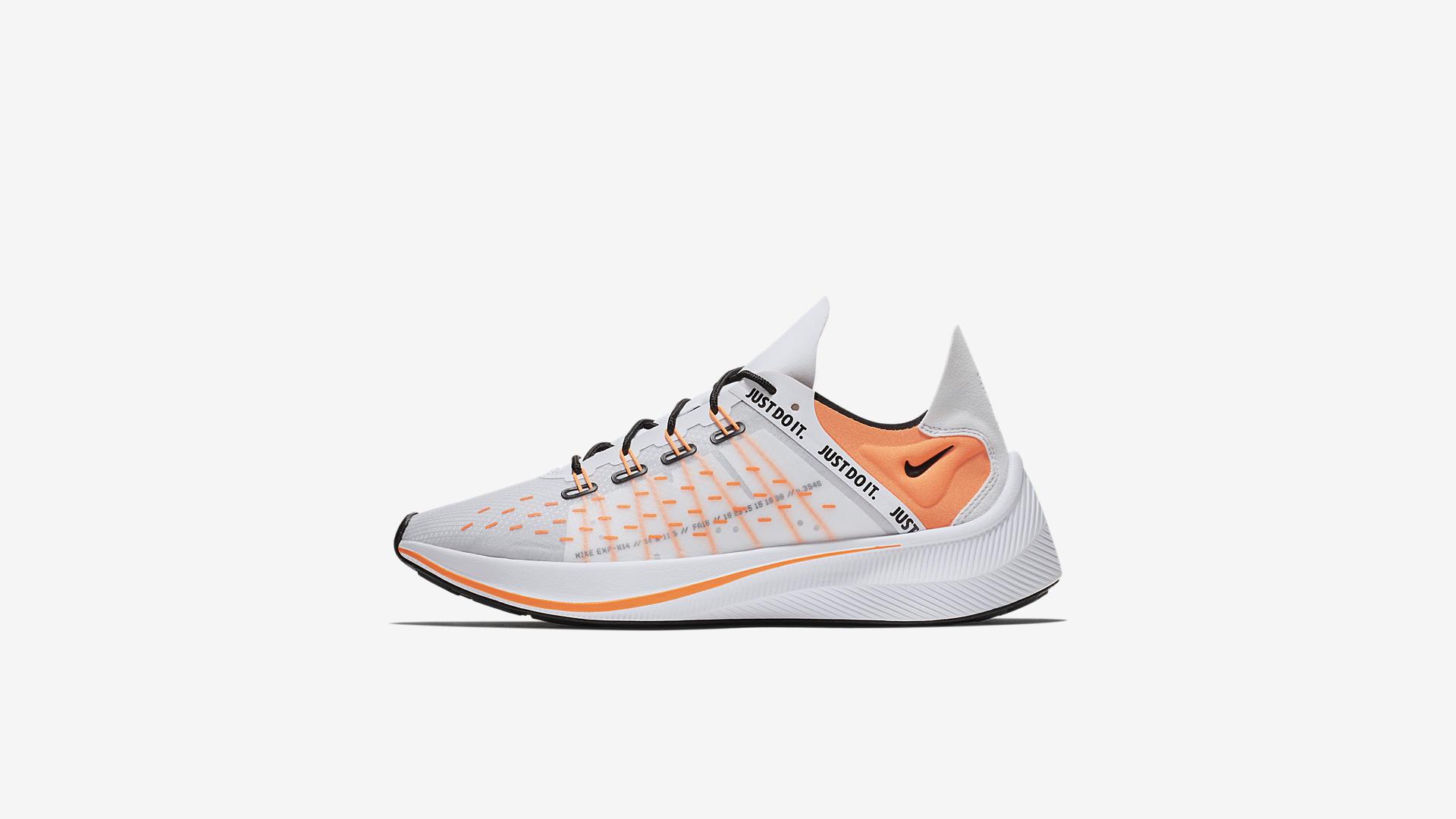 Nike EXP-X14 SE Just Do It White / Total Orange / Black / Wolf Grey (AO3095-100)