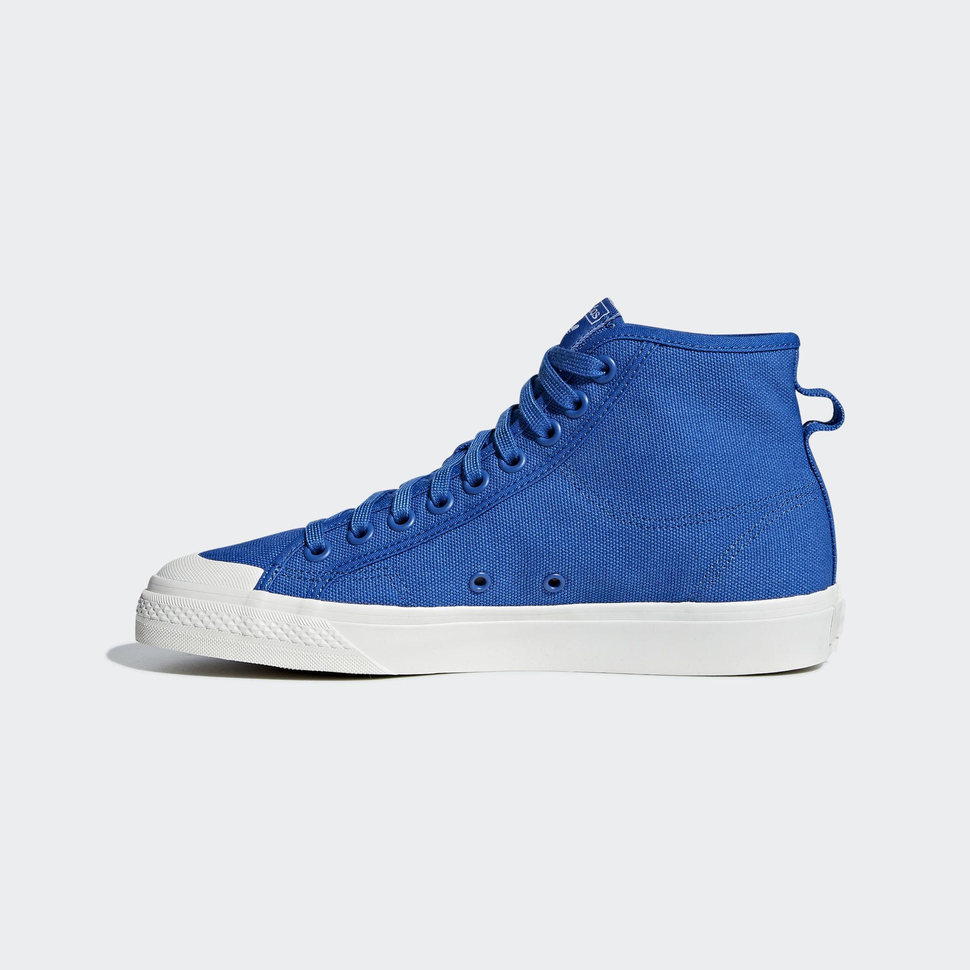 Adidas Nizza High Top Blue / Blue / Off White (B41644)