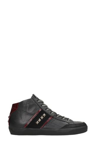 Leather Crown Leather Crown Black Leather Sneakers (zwart)