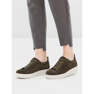 Bianco Flatform suède Sneakers