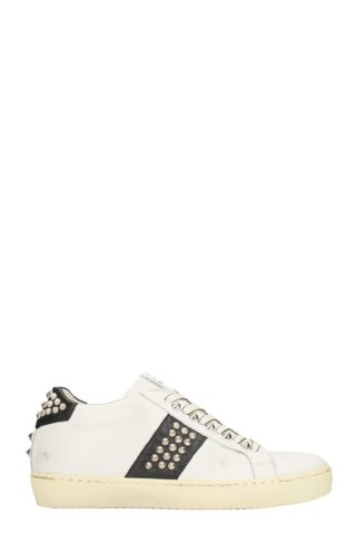 Leather Crown Leather Crown White Leather Sneakers (wit)