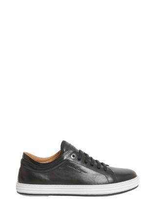 Salvatore Ferragamo Leather Sneakers (zwart)