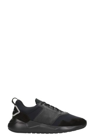 Buscemi Buscemi Ventura Black Leather And Suede Sneakers (zwart)