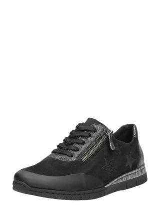Rieker dames sneakers – Zwart