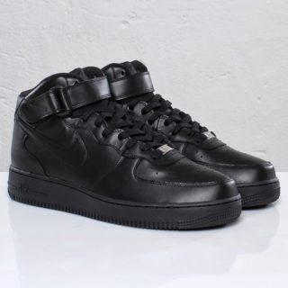 size 40 64be4 0db01 Nike Air Force 1 Mid â´07 BlackBlack (81079)