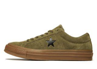 Converse One Star Suede Heren (groen)