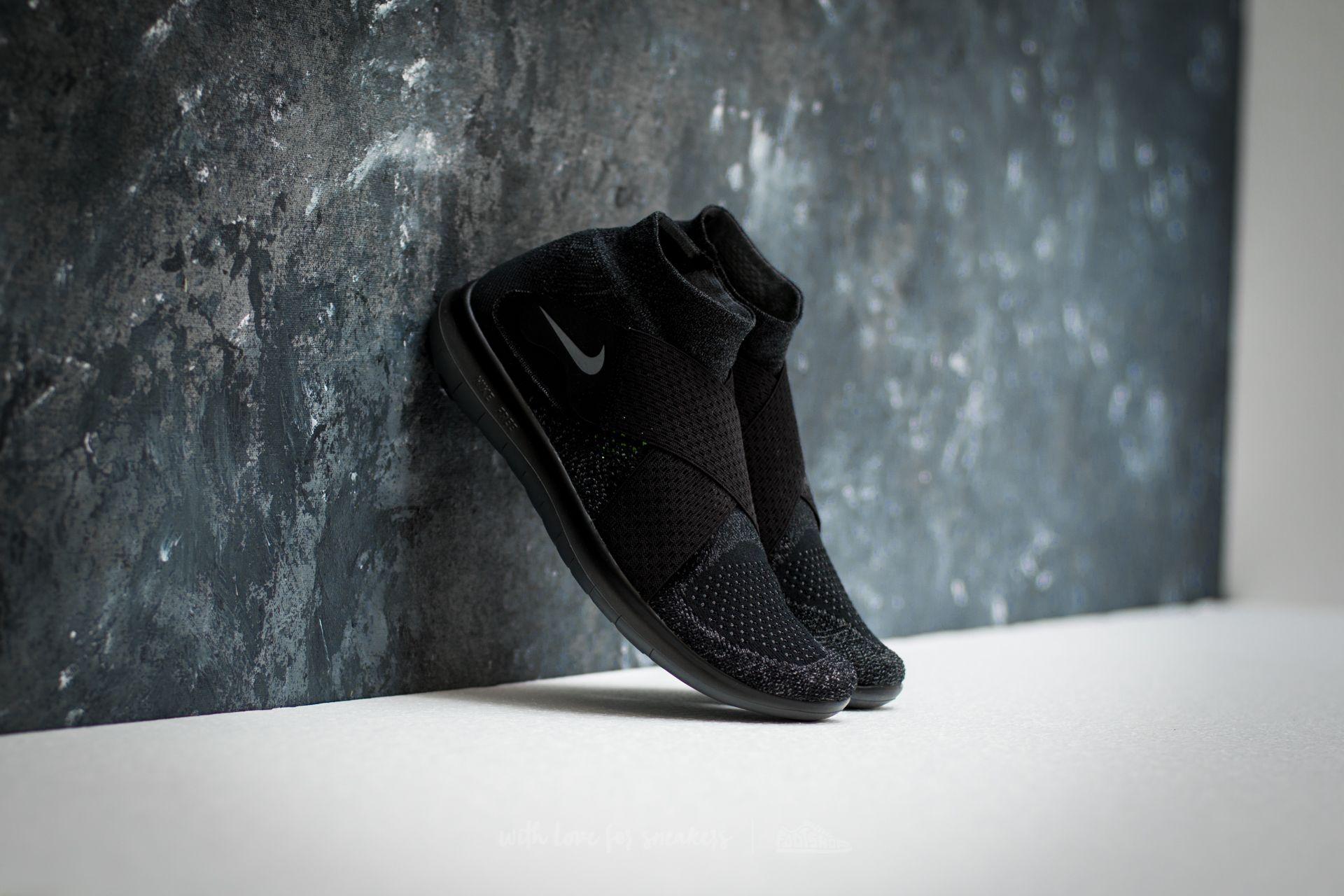 ba6bd97c4cf4 Nike Free Run Motion Flyknit 2017 Black  Dark Grey-Anthracite ...
