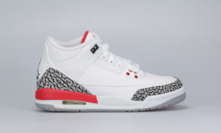Air Jordan 3 Retro BG (White) (WHITE/FIRE RED-CEMENT GREY)