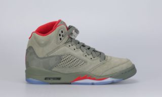 Air Jordan 5 Retro (BG) (Camo) (DARK STUCCO/UNIVERSITY RED)