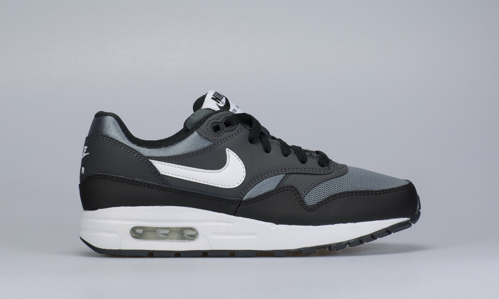 nike air max 1 gs zwart