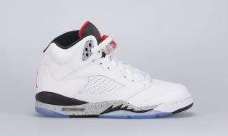 Air Jordan 5 Retro (BG) (White) (WHITE/UNIVERSITY RED-BLACK)