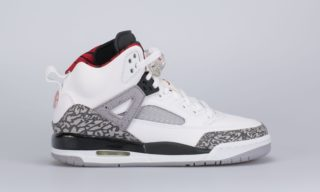 Jordan Spizike (BG) (White) (WHITE/VARSITY RED-CEMENT GREY)