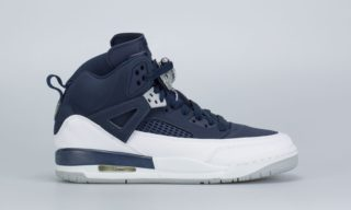 Jordan Spizike (BG) (Navy) (MIDNIGHT NAVY/METALLIC SILVER)