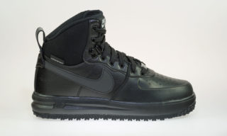 Lunar Force 1 Sneakerboot (GS) (BLACK/BLACK-METALLIC SILVER)