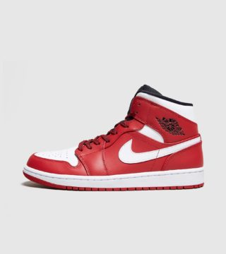 Jordan Air 1 Mid (rood)