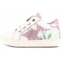 Shoesme Veterschoen urban white pink wit
