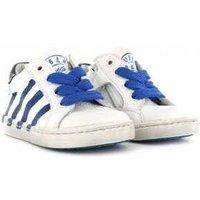 Shoesme Veterschoen urban white blue blauw