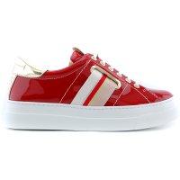 BeKool 42016 sneaker dikke zool lak rood