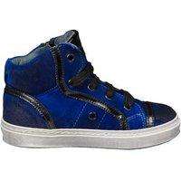 Jarrett Vintage jongenssneaker in kobalt suède- blauw