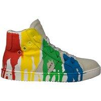 Jarrett Hoge sneaker suède linnen multicolor- grijs