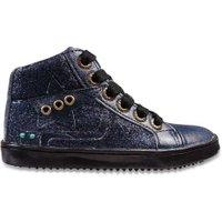 Bunnies Jr. Hoge sneaker glitter- blauw