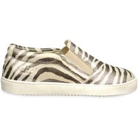 Clic! Slip-on sneaker zebra metallic- beige