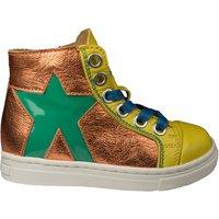 MAÁ sneaker ster geel ster oranje metallic-