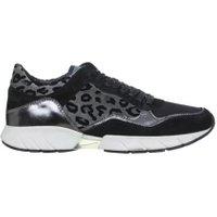 Crime London stoere dames sneakers grijs melange