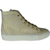 Gino-B Hoge sneaker lizard gold goud