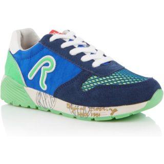 Replay&Sons Runner sneaker met suède en leren details