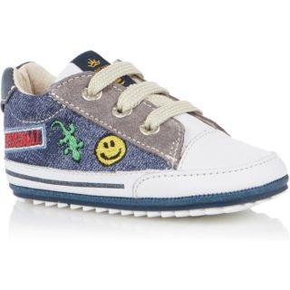 Shoesme Sneaker met leren details