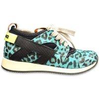 Momino Sneaker scuba luipaard- blauw
