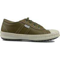 FITZkitz Fitz kitz mosterd kleurige lederen sneaker- groen