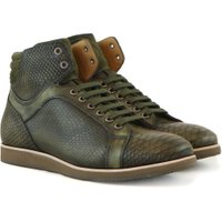 Gino Bianchi Sneakers kaki snake groen