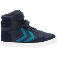 Hummel Sneaker stadil oiled high sneaker junior total eclipse blauw