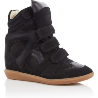 Isabel Marant Bekett sneakerwedge van suède