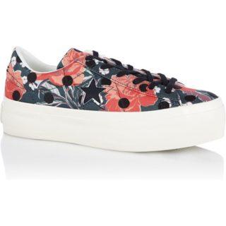 Converse One Star Platform sneaker met bloemendessin