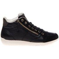 Geox Sneaker leather suède sneaker with zipper black zwart