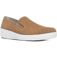 """FitFlop Sneaker superskateâ""""¢ perforated suede soft brown bruin"""
