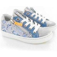 Shoesme Veterschoen laag blue-grey blauw