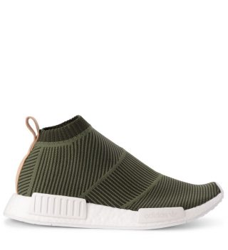 Adidas Originals Adidas Originals Nmd cs1 Green Knit And Leather Sneaker (zwart)
