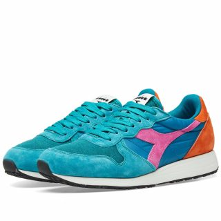 Diadora Tornado MII Blue Avalanche - Made in Italy (Green)
