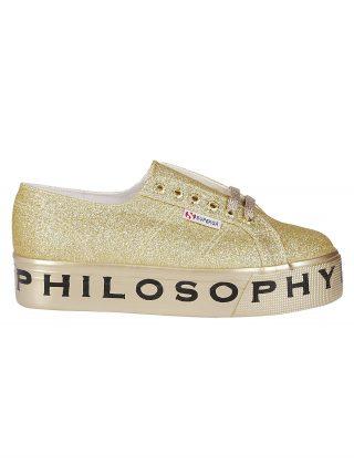 Philosophy di Lorenzo Serafini Philosophy Di Lorenzo Serafini Superga Platform Glitter Sneakers (goud)