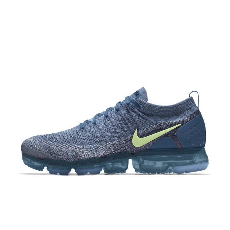 Nike Air VaporMax Flyknit 2 iD Hardloopschoen voor heren - Blauw Blauw