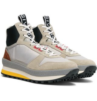Givenchy Tr3 Shell, Nubuck And Leather High-top Sneakers – Gray