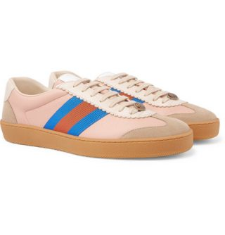 Gucci Leather And Suede Sneakers – Pink