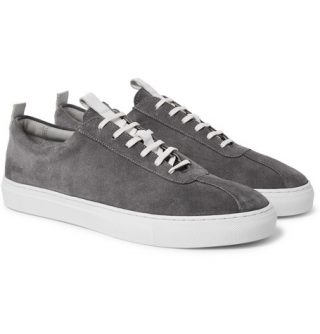 Grenson Suede Sneakers – Gray