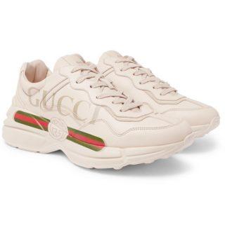 Gucci Rhyton Logo-print Leather Sneakers – Off-white