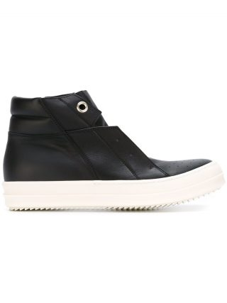 Rick Owens 'Island Dunk' hi-top sneakers (zwart)